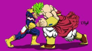 all might vs broly by Rad-3lf