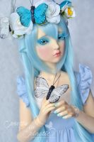 Mariposa - the blue butterfly 02 by prettyinplastic