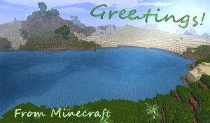 Greetings from Minecraft by Roqd