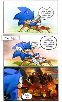 Where was Sonic before the ''Forces''? by FinikArt