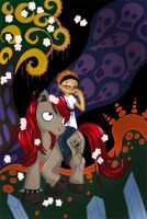 Pony from hell by Lily-Poulp