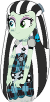 Frankie Stein in Equestria Girls style by user15432