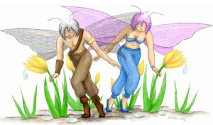 Dual Flower Faeries by gusdefrog