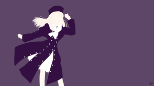 Illya (Fate/Stay Night) Minimalist Wallpaper by greenmapple17