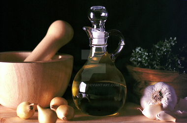 Olive Oil Decanter Still Life by dworld