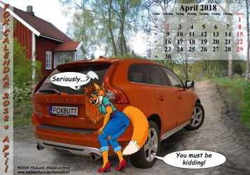 Fox Calendar 2018 - April by micke-m
