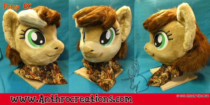 MLP Fursuit Head 2017 OC Char by AtalontheDeer