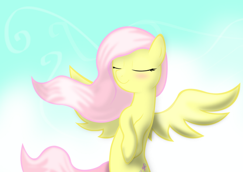 Absurd resolution Fluttershy enjoying the sky by Dash1e