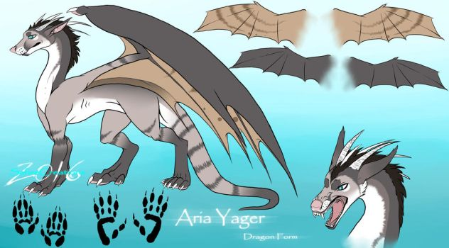 Aria Yager |Dragon Form| :Reference Sheet: by SafireCreations