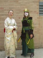 Kyoshi Warrior Cotume, Plus a Kimono Girl by Ghost-Apple