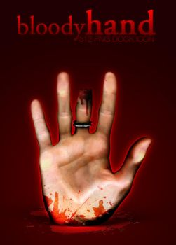 Bloody Hand Dock Icon by dEGOnstruction
