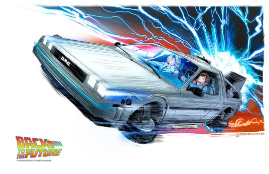 Delorean - Back to the Future by raultrevino