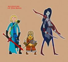 Adventure Time/Lord Of The Rings Crossover. by OhWellIfYouSaySo
