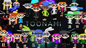 Inklings in the Toonami theater by SeantheInkling