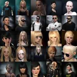Eve Online - miscellaneous portraits by ZeldaWidow