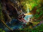 Sigurds fight with Fafnir by andrekosslick