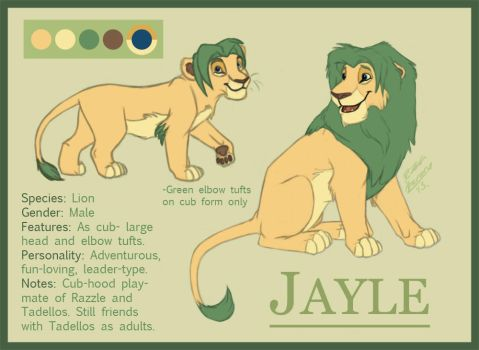 Jayle: Reference Sheet by Azerane