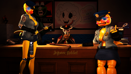 You entered the wrong police station, boi by Infernox-Ratchet
