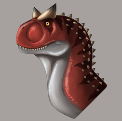 Carnotaurus head by Lordstevie