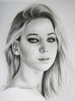 Jennifer Lawrence by bianqui-creates