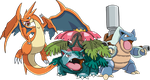 The Kanto Starters - Mega Forms by Tails19950