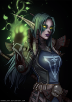 [C] Night Elf Druid by hannelArt