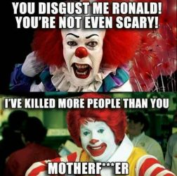 Pennywise vs. Ronald McDonald by xXrougeone2005Xx