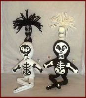 Set of Two Voodoo Skeletons by jazzy1453