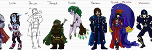 WoW Comic: Characters by AkitheFrivolicious