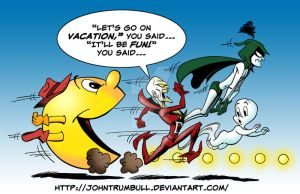 LIID 103: Pac Man Meets Comic Book Ghosts! by johntrumbull
