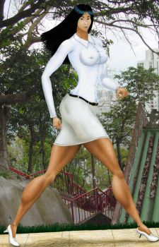 President Nguyen Hue Bich Long Ago alt background by MuscleWomen-Planet