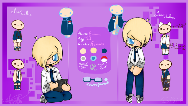 New oc [Reference Sheet] by CatGirl22111