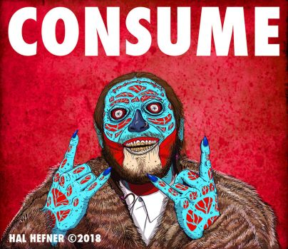 Post Malone Hal Hefner Consume They Live-2 by HalHefnerART