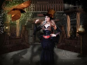 Steampunk Woman by annemaria48