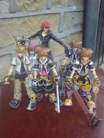 Kingdom Hearts PlayArts Family by l3xxybaby