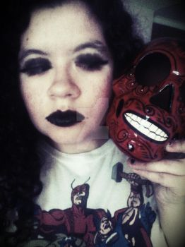 Me with Wade the Skull by Selenalunarox