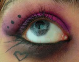 Pink and purple makeup by Muffinspwn