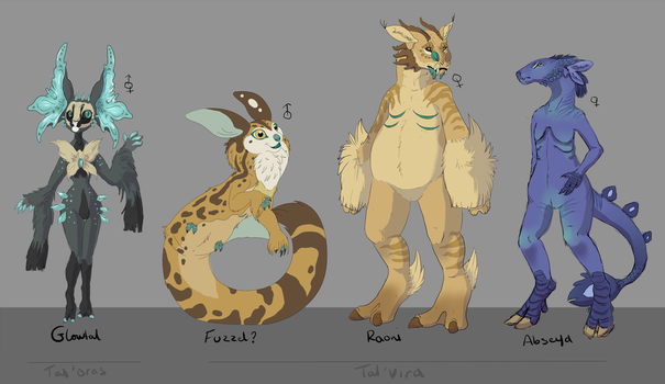 Finalised Twin Planet Races 4/? by The-Hare