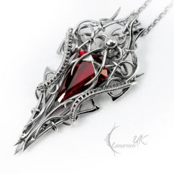VECNISS - silver and red quartz by LUNARIEEN