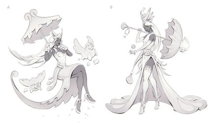 Gwen the Bubble Queen Sketches 1 by yefumm