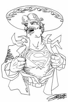 SUPERMARIACHI Lineart by VAXION