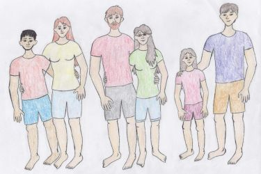 Drawing Challenge Day 3- My Family by rboy42