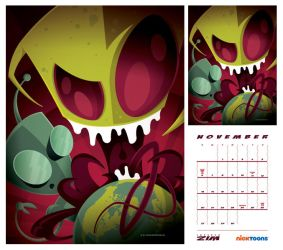 nicktoons: invader zim by strongstuff
