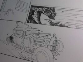 Batman Rockabilly - sample pages WIP by DenisM79