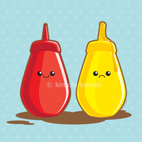 Ketchup and Mustard by kimchikawaii