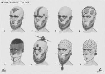 Nogon - Head Concepts by DavidHakobian