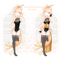 Christmas Dextro: DAY 03 Glittered Feathers by Lunathyst