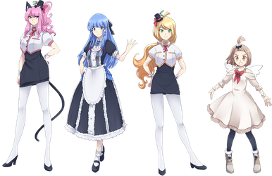 Maid versions about other goddesses by LENK64
