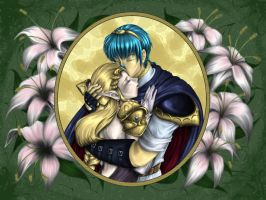 Marth and Zelda - Embrace by Spelarminlind