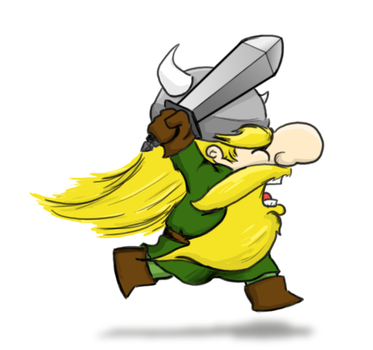 Viking Running by Alias-Bill
